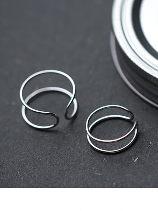 Rosh 925 Sterling Silver Smooth Round Minimalist Stackable Ring 0