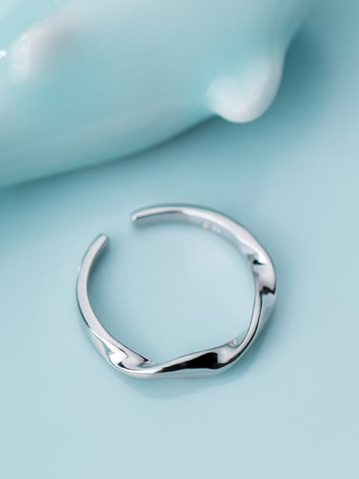 Rosh 925 Sterling Silver Smooth Round Minimalist Free Size Ring 2