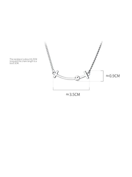 Rosh 925 Sterling Silver Fashion simple word smile elephant Necklace 3