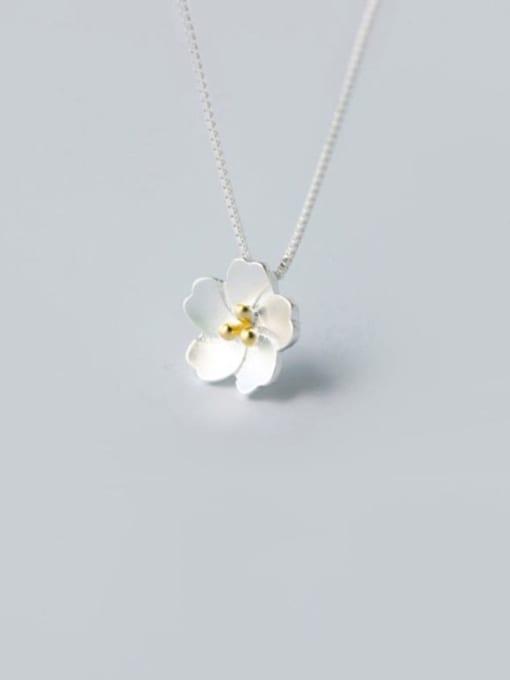 Rosh 925 Sterling Silver Flower Minimalist Necklace 3
