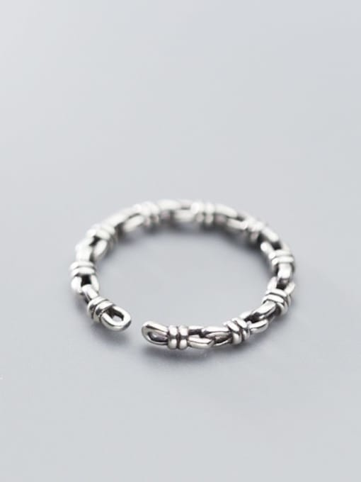 Rosh 925 Sterling Silver  Retro knot free size Ring 2