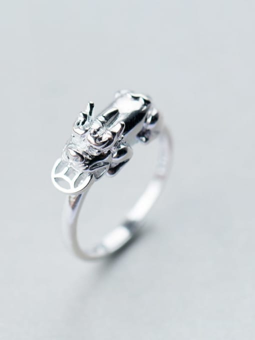 Rosh 925 Sterling Silver Minimalist brave troops  Free Size Ring