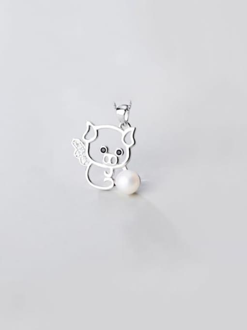 Rosh 925 sterling silver  Fashionable cute diamond pig pendant 0