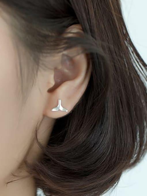 Rosh 925 Sterling Silver Irregular Minimalist Stud Earring 1