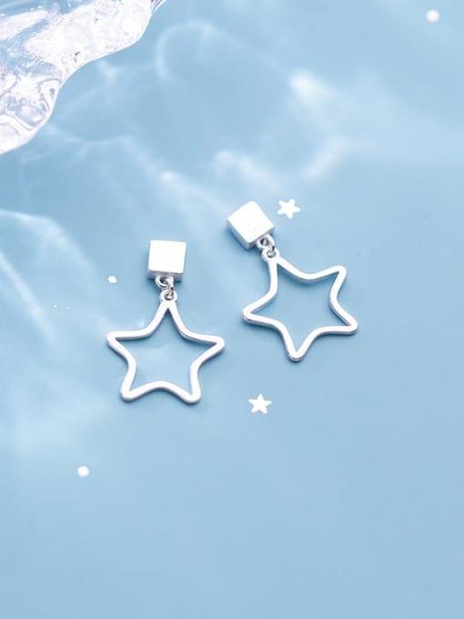 Rosh 925 Sterling Silver Smooth Geometric Minimalist Drop Earring 0
