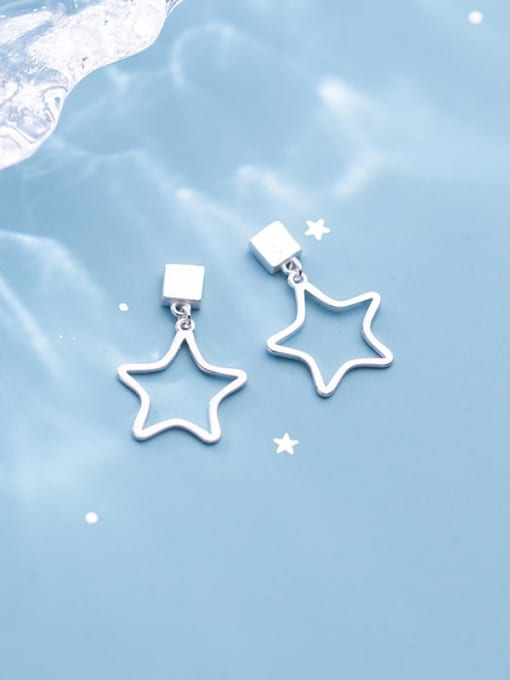 Rosh 925 Sterling Silver Smooth Geometric Minimalist Drop Earring