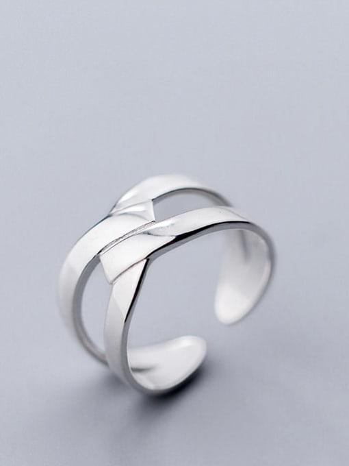 Rosh 925 Sterling Silver Irregular Minimalist Free Size Ring 1