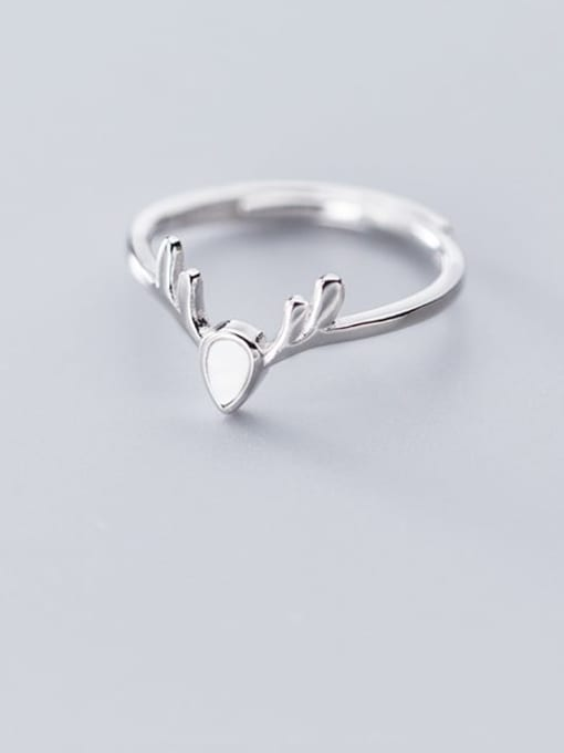 Rosh 925 Sterling Silver Shell Deer Cute Free Size Ring 1