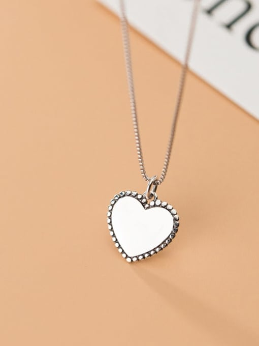 Rosh Heart 925 Sterling Silver Vintage Heart shaped Pendant 3