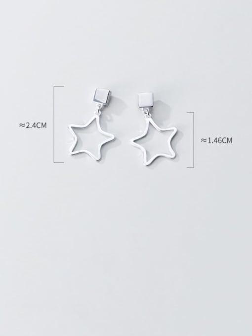 Rosh 925 Sterling Silver Smooth Geometric Minimalist Drop Earring 3