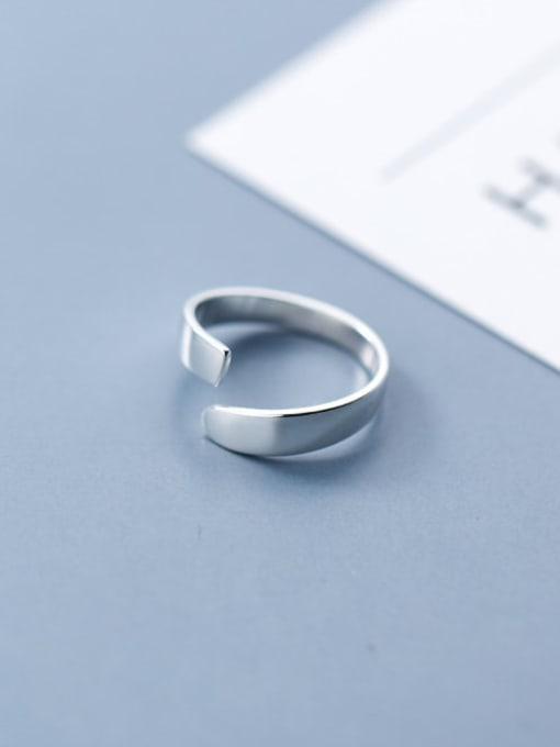 Rosh 925 Sterling Silver Simple Irregular Minimalist Band Ring 1