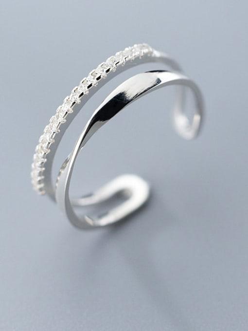 Rosh 925 Sterling Silver Irregular Minimalist Stackable Ring