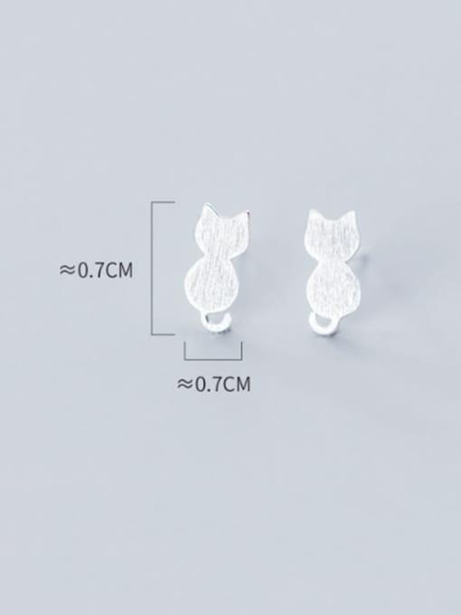 Rosh 925 Sterling Silver Cat Cute Stud Earring 4