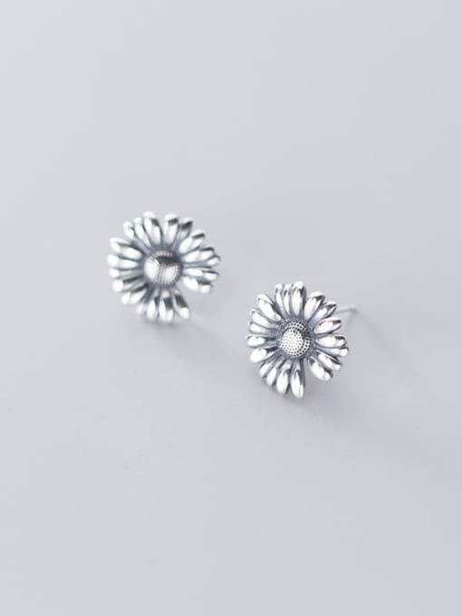 Rosh 925 Sterling Silver Flower Vintage Stud Earring 2