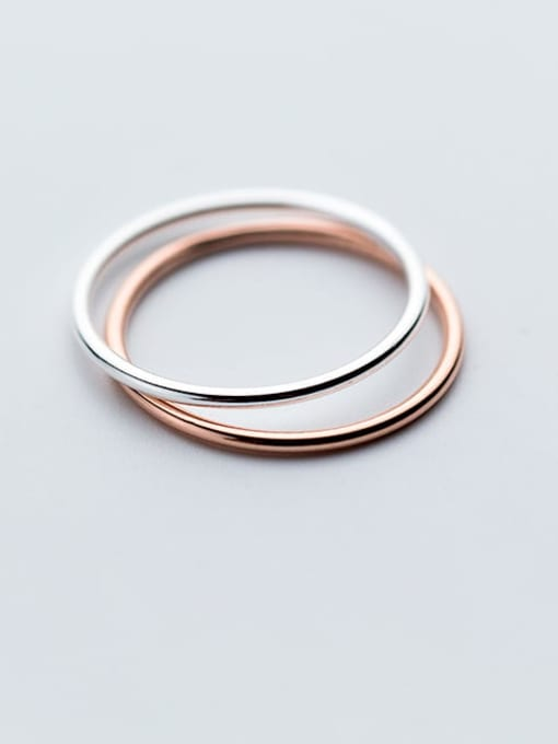 Rosh 925 Sterling Silver Smooth Round Minimalist Free Size Ring 3