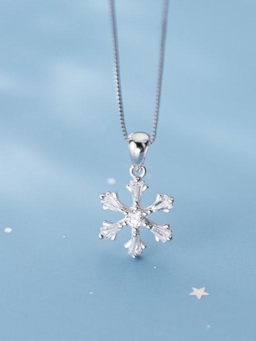 Rosh 925 Sterling Silver Snowflake Diamond Pendant  (no chain) 2