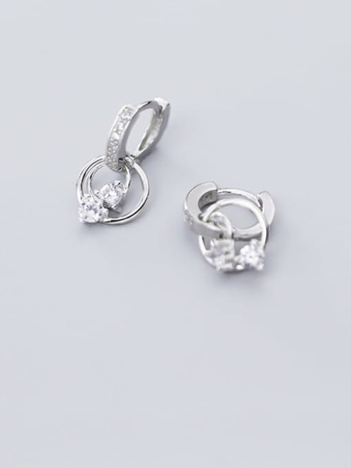 Rosh 925 Sterling Silver Cubic Zirconia Round Classic Huggie Earring 2