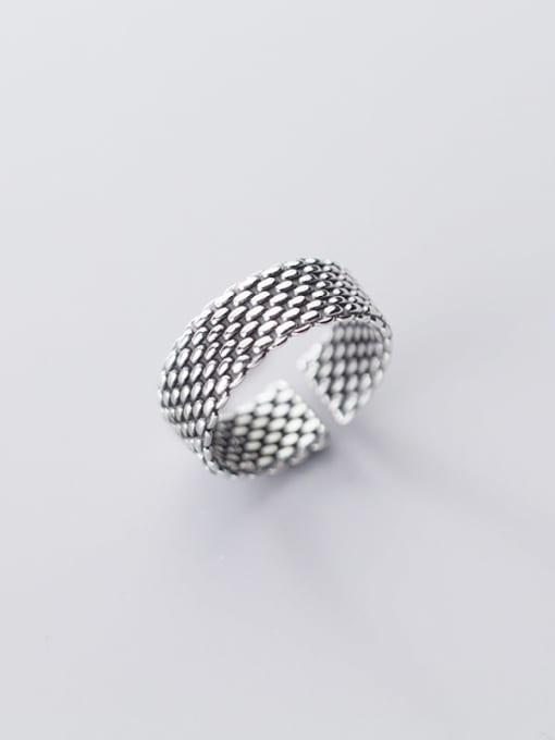 Rosh 925 Sterling Silver Irregular Vintage  Band Ring 1