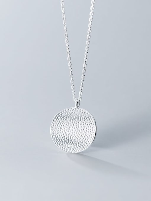 Rosh 925 Sterling Silver  Minimalist Round Pendant Necklace 2