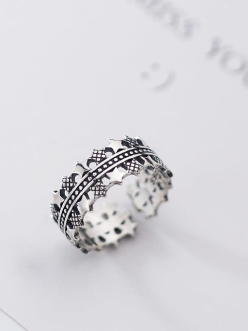Rosh 925 sterling silver star vintage free size  ring