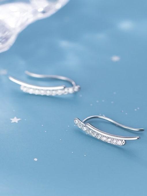 Rosh 925 Sterling Silver Minimalist fashion U-shaped  Hook Earring 0