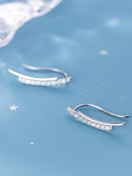 Rosh 925 Sterling Silver Minimalist fashion U-shaped  Hook Earring