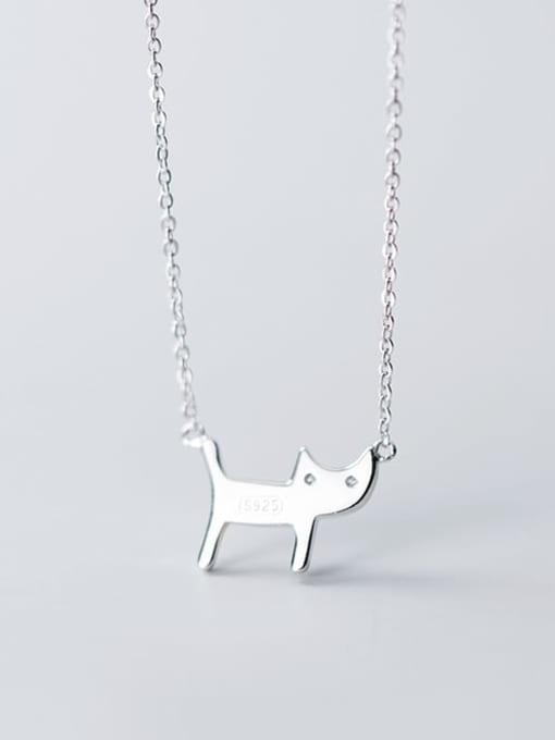 Rosh 925 Sterling Silver Cute Diamond cat  Pendant  Necklace 3