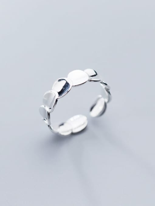 Rosh 925 Sterling Silver Smooth Round Minimalist Free Size Ring 0