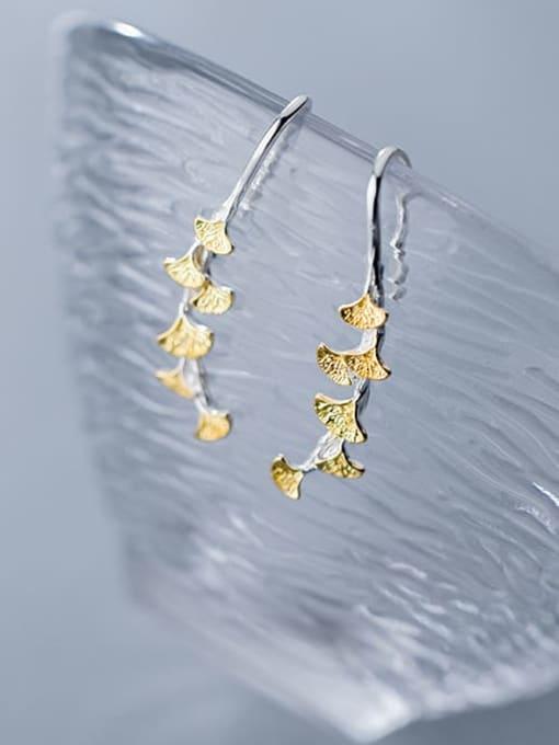 Rosh 925 Sterling Silver Leaf Trend Drop Earring 3