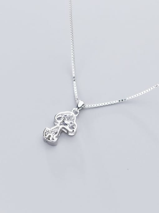 Rosh 925 Sterling Silver Cubic Zirconia Cute Dog Charm Necklace 2