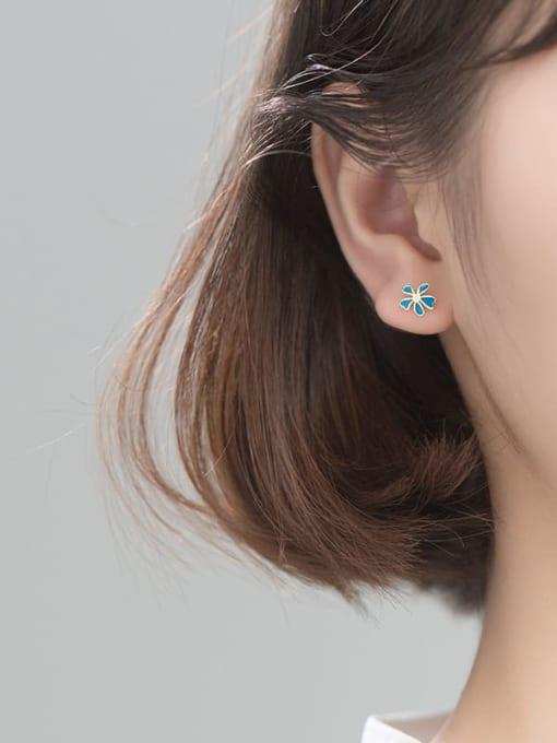 Rosh 925 Sterling Silver flower Stud Earring