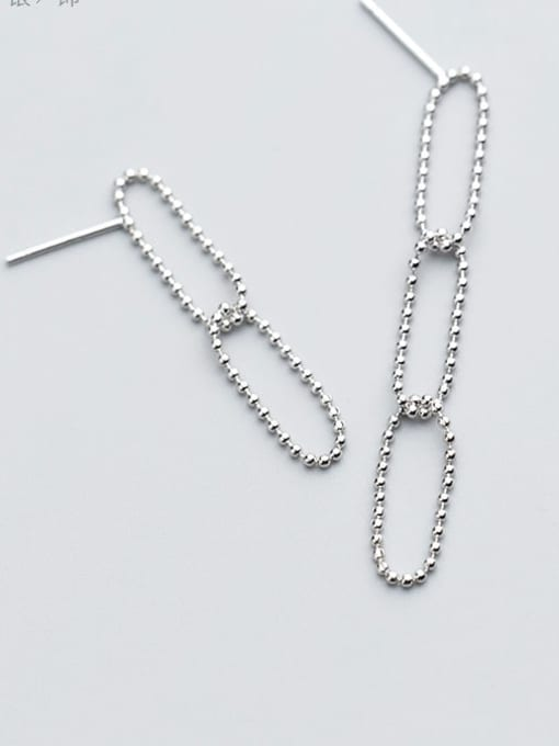 Rosh 925 Sterling Silver Hollow Geometric Minimalist Drop Earring 2