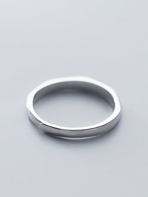 Rosh 925 Sterling Silver  Minimalist Round Free Size Ring 1