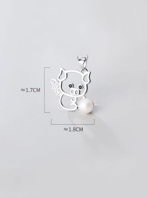 Rosh 925 sterling silver  Fashionable cute diamond pig pendant 3