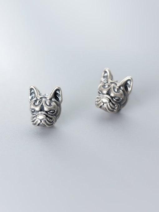 Rosh 925 Sterling Silver Lion Vintage Stud Earring 1