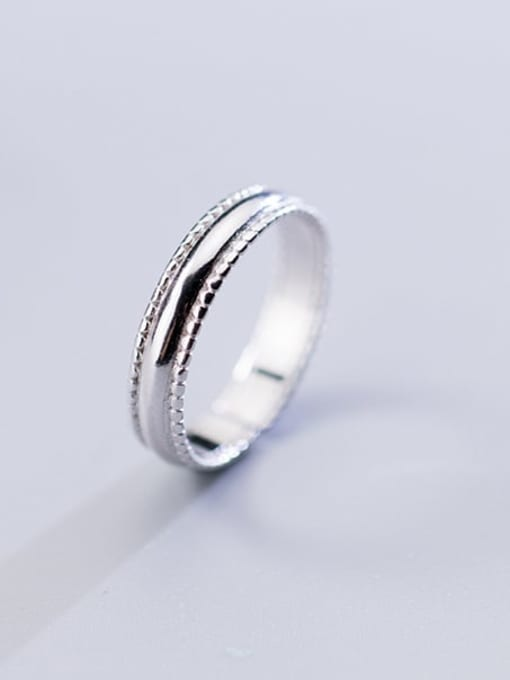 Rosh 925 sterling silver round minimalist free size ring 0
