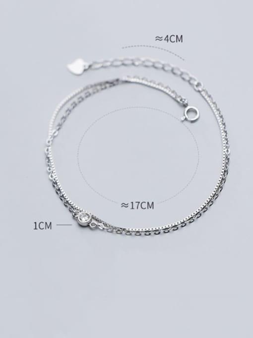Rosh 925 Sterling Silver Minimalist Strand Bracelet 3