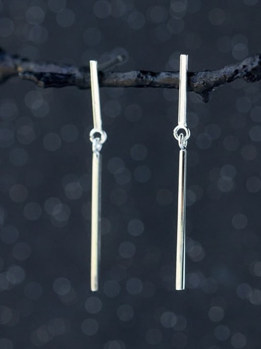 Rosh 925 Sterling Silver Smooth Geometric Minimalist Threader Earring 2