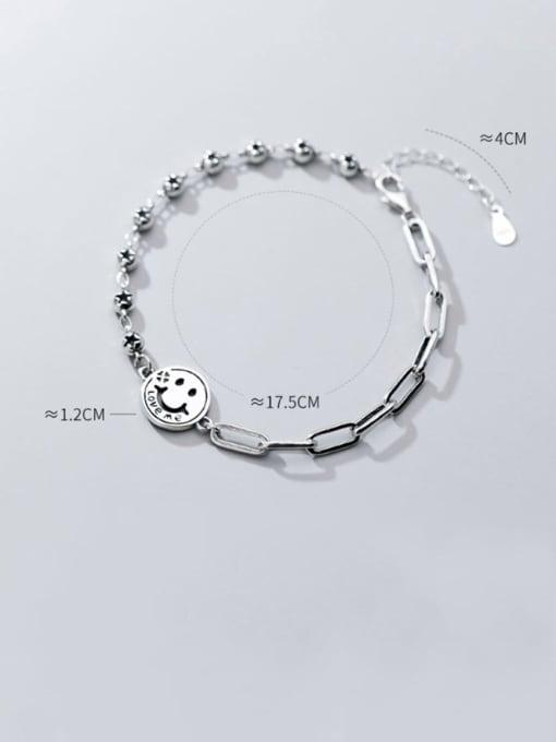 Rosh 925 Sterling Silver Face Minimalist Strand Bracelet 1