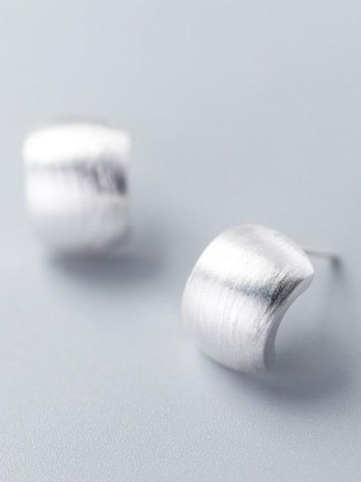 Rosh 925 Sterling Silver  Fashionable simple thumb shape earrings Stud Earring 0