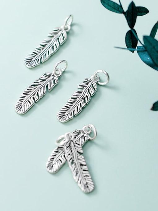 FAN 925 Sterling Silver Feather Charm Height : 22 mm , Width: 6 mm 1