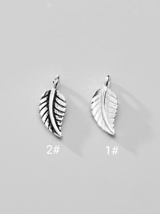 FAN 925 Sterling Silver tree charm    Height : 14.5 mm , Width: 6.5 mm