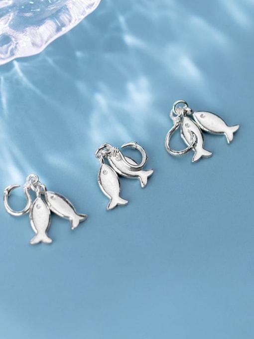FAN 925 Sterling Silver Fish Opening Charm Height : 4 mm , Width: 5.5 mm 1