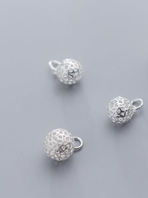 FAN 925 Sterling Silver Ball Charm Diameter : 10 and 12mm 1