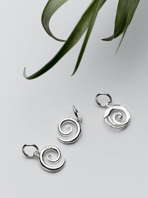 FAN 925 Sterling Silver Charm Height : 11 mm , Width: 9 mm 1