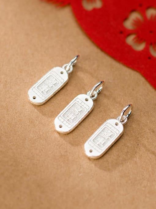 FAN 925 Sterling Silver Geometry Charm Height : 18 mm , Width: 7 mm 1