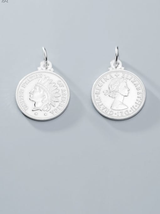 FAN 925 Sterling Silver coin Charm Height : 18 mm , Width: 18 mm 0