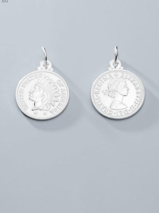 FAN 925 Sterling Silver coin Charm Height : 18 mm , Width: 18 mm
