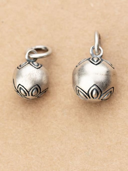 FAN 925 Sterling Silver bell Charm Diameter : 9.5 and11mm