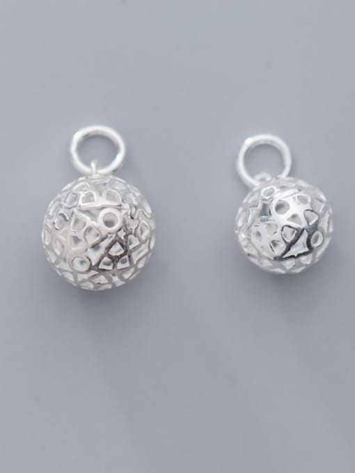 FAN 925 Sterling Silver Ball Charm Diameter : 10 and 12mm 0